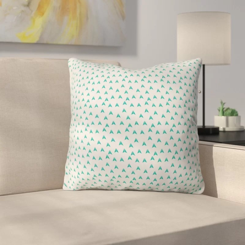 Mullet Indoor/Outdoor Throw Pillow Size: 26 H x 26 W x 7 D Color: Blue