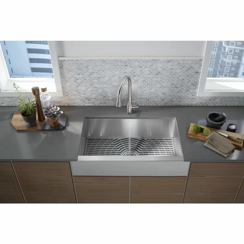 ludington apron front kitchen sink with accessories
