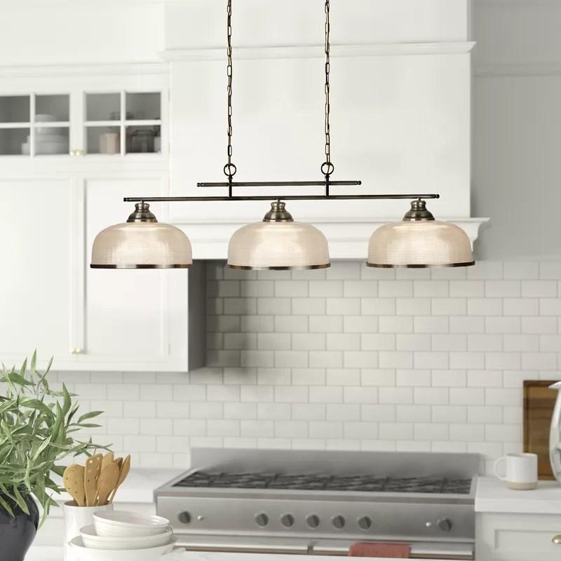 asner 3 light kitchen island pendant