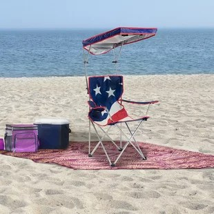 beach chairs with shade pink crushed velvet bedroom chair wayfair folding