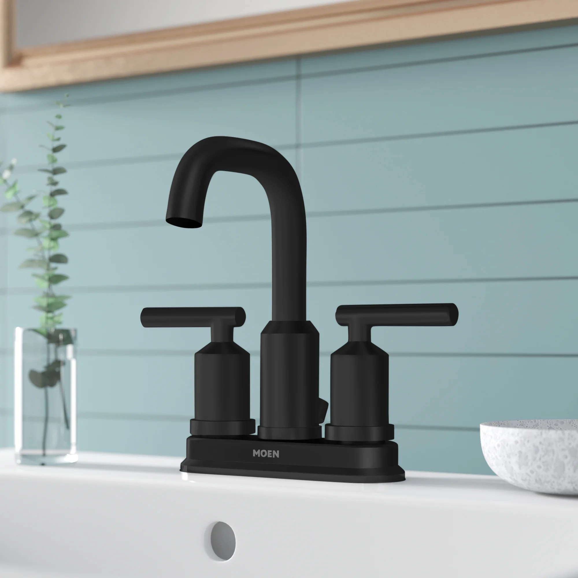 gibson centerset bathroom faucet with drain assembly