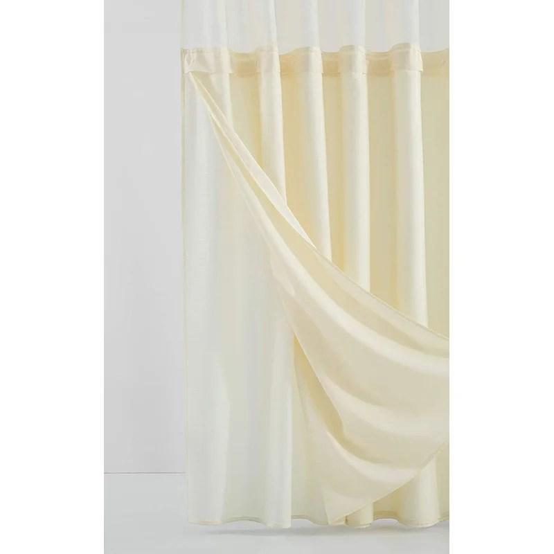 complete waterproof single shower curtain