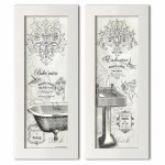 One Allium Way Vintage French Claw Foot Bathtub And Sink Panel 2 Piece Picture Frame Graphic Art Print Set On Paper Reviews Wayfair