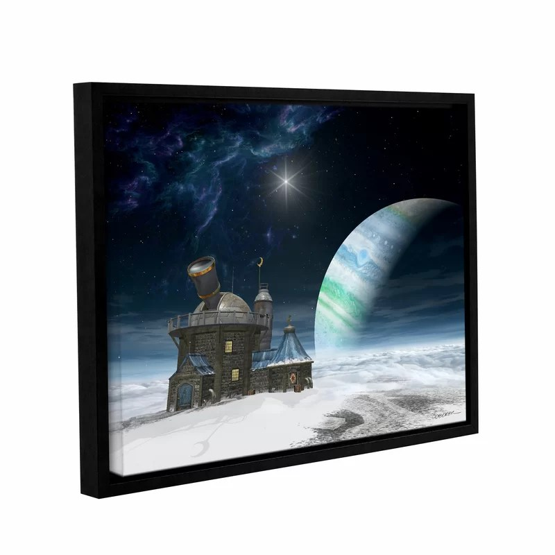 Observatory by Cynthia Decker Framed Graphic Art on Wrapped Canvas Size: 24 H x 32 W