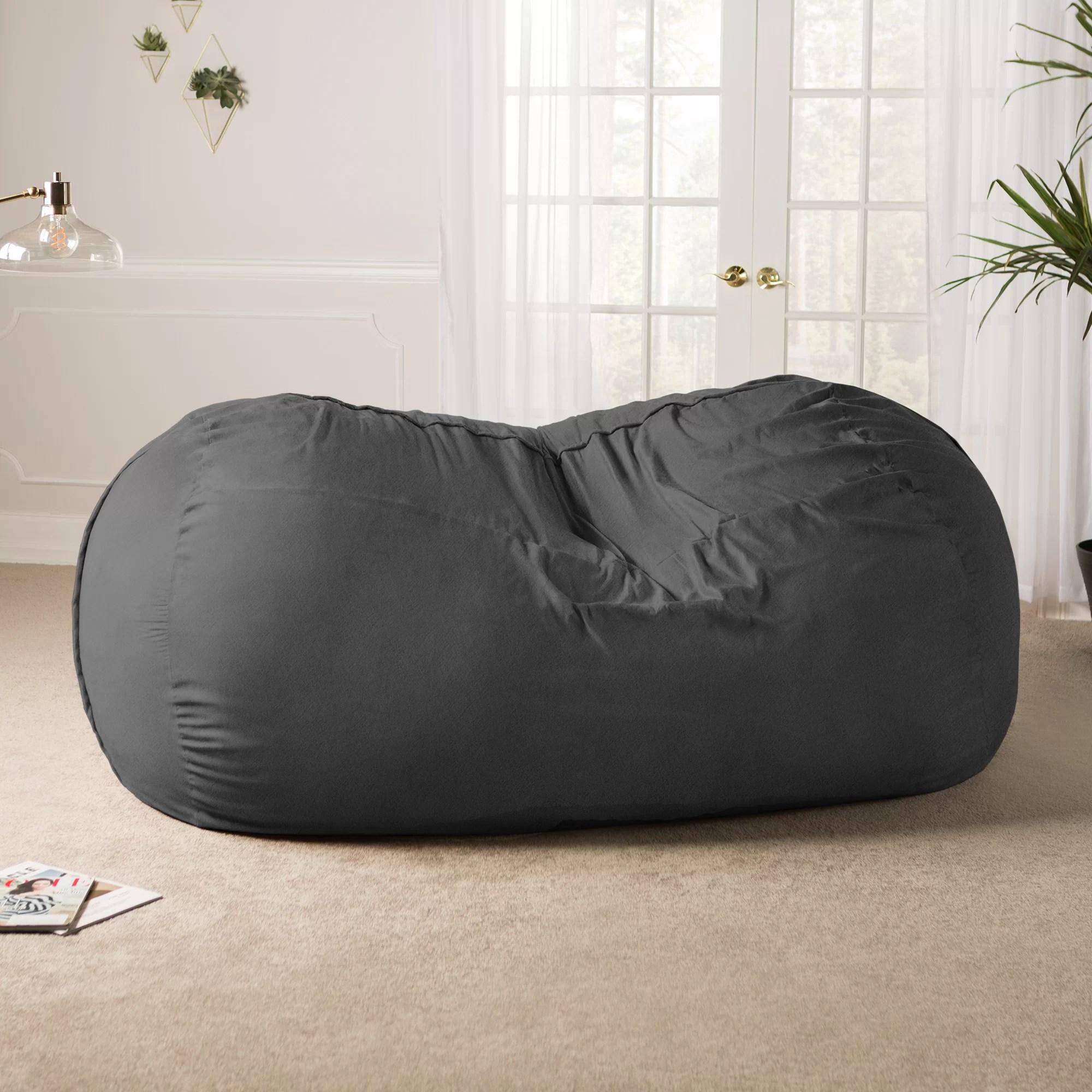 giant bean bag chair lawn with umbrella latitude run sofa reviews wayfair