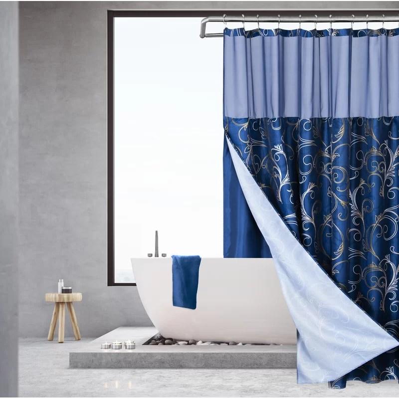 langford 2 piece shower curtain set