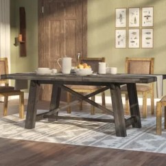 Farmhouse Kitchen Tables Planner Online Dining Birch Lane Colborne Extendable Solid Wood Table