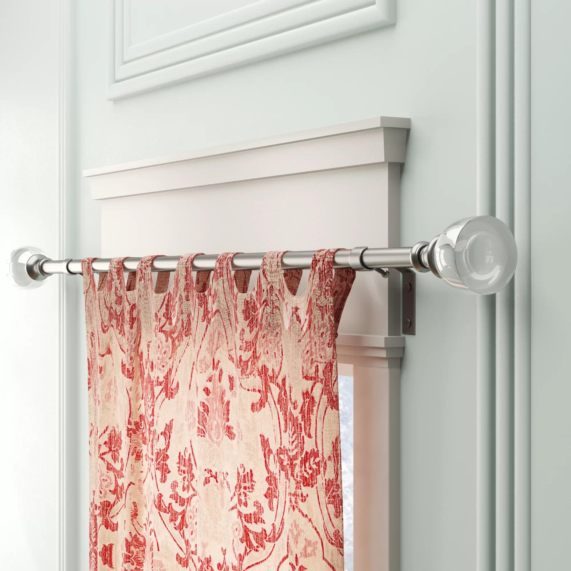 Timberlane Single Curtain Rod And Hardware Metal Set