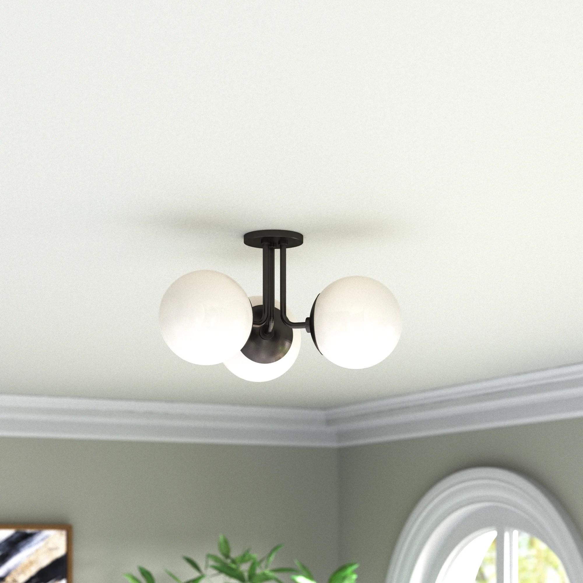 flush mount lighting berndt 3 light 18 25 semi flush mount