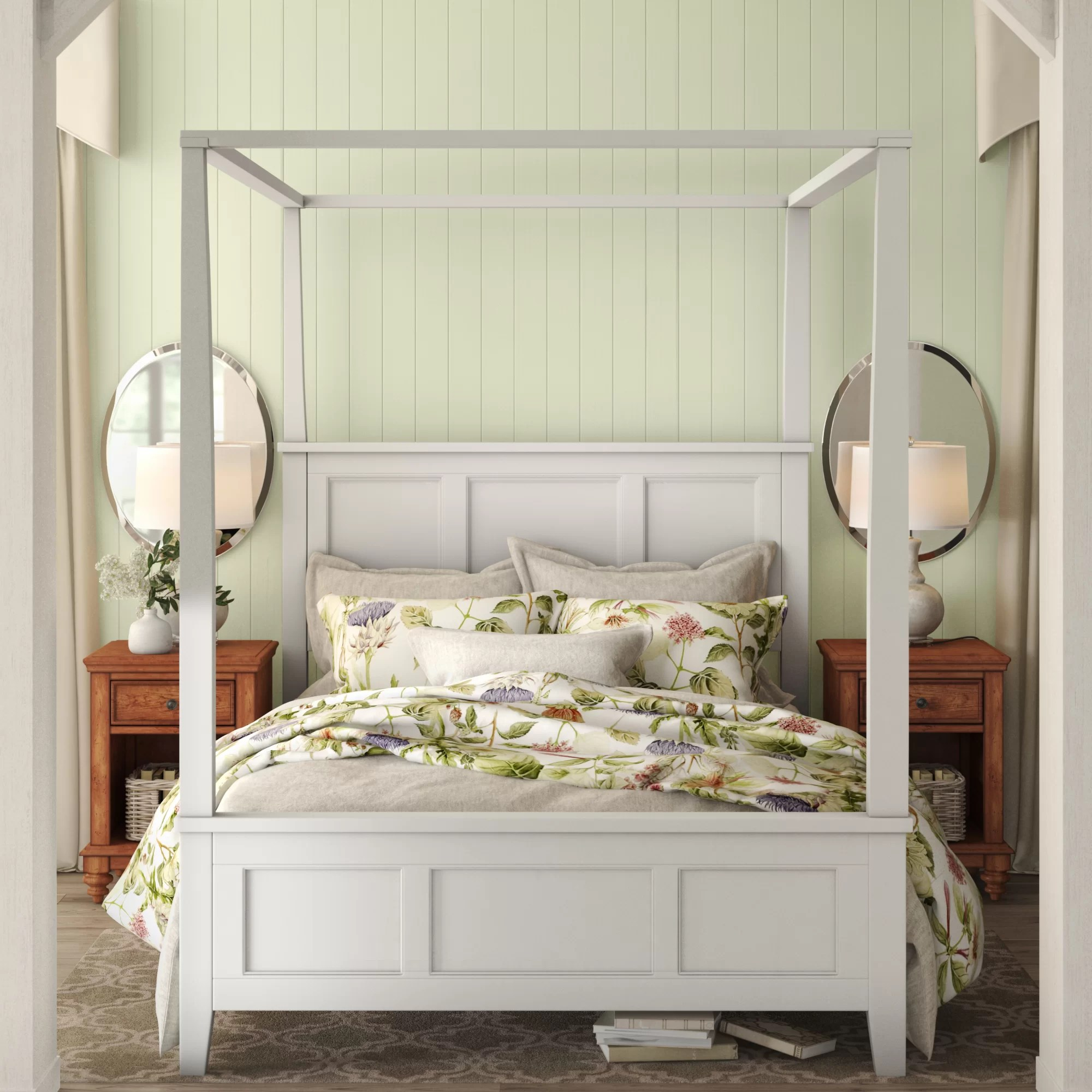 smythe queen canopy bed
