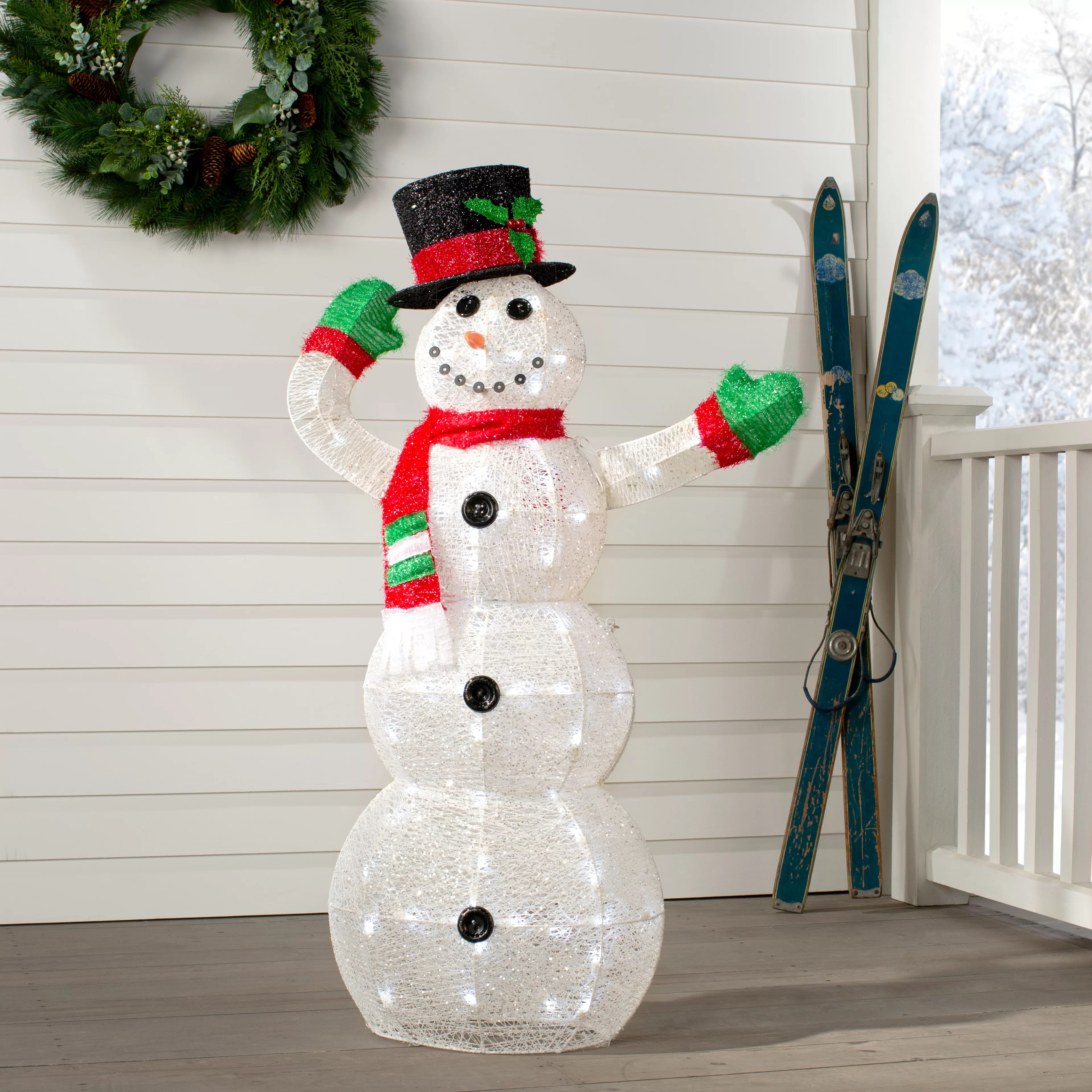 The Holiday Aisle Crystal Snowman Christmas Indoor Outdoor Decoration Lighted Display Reviews Wayfair