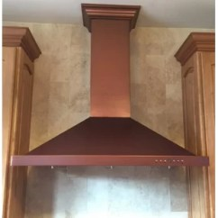 Copper Kitchen Hoods Purple Cabinets Wayfair 30 760 Cfm Wall Mount Range Hood