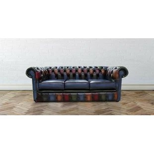 genuine leather sofa uk curved back slipcovers sofas armchairs chesterfield wayfair co dubois antique 3 seater