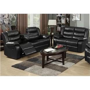 ryker reclining sofa and loveseat 2 piece set blue white recliner wayfair ca