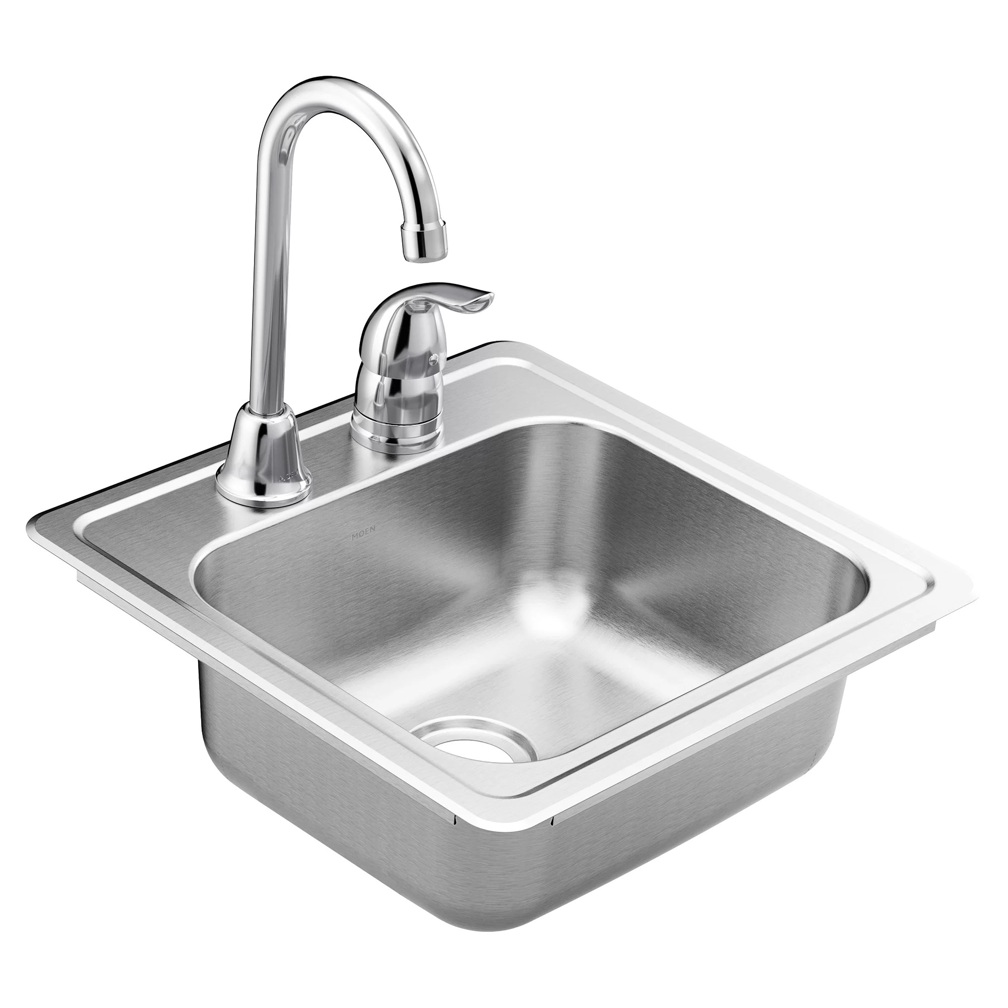 2200 series stainless steel 15 l x 15 w drop in bar sink