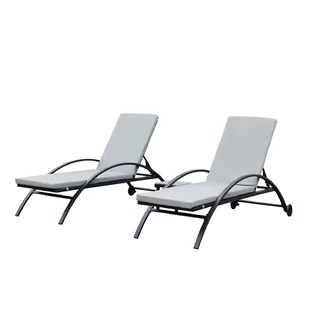 cheap sun lounge chairs racing game simulator chair loungers wayfair liggins outdoor lounger set with cushion of 2