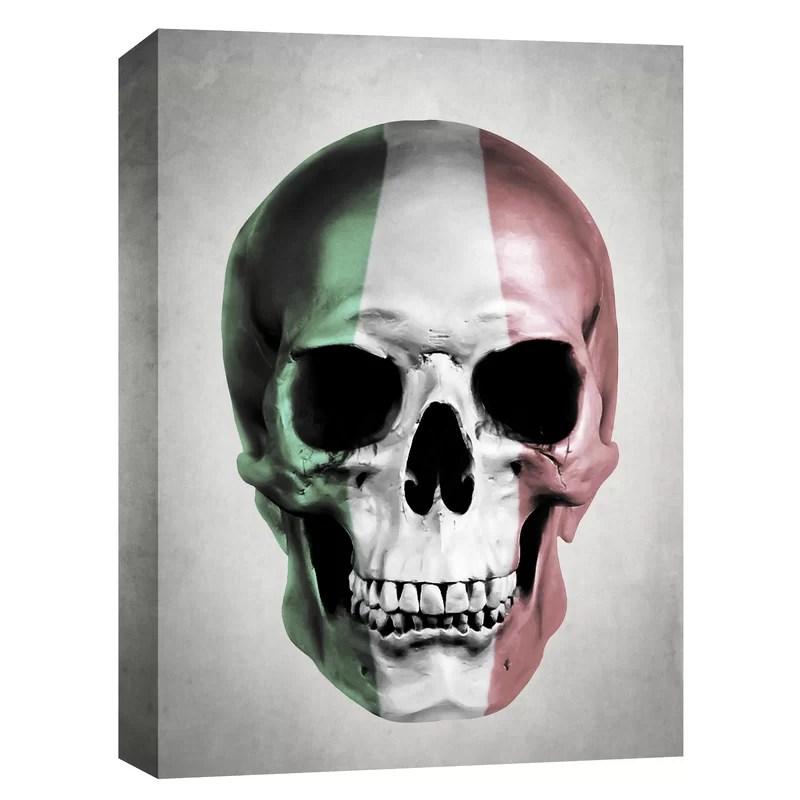 Italian Skull-Grey by Nicklas Gustafsson Graphic Art on Canvas Size: 16 H x 12 W