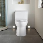 Watqen 1 8 Gpf Round One Piece Toilet Seat Included Wayfair