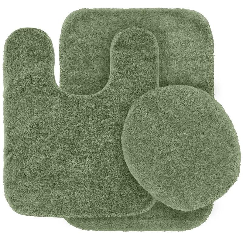 Andover Mills Woodacre Nylon Non Slip Solid 3 Piece Bath Rug Set Reviews Wayfair