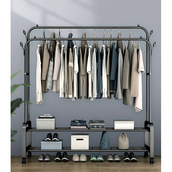 jose 59 rolling clothes rack