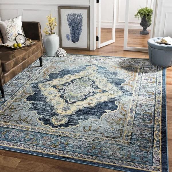 yellow area rug living room roman michiana blue reviews birch lane