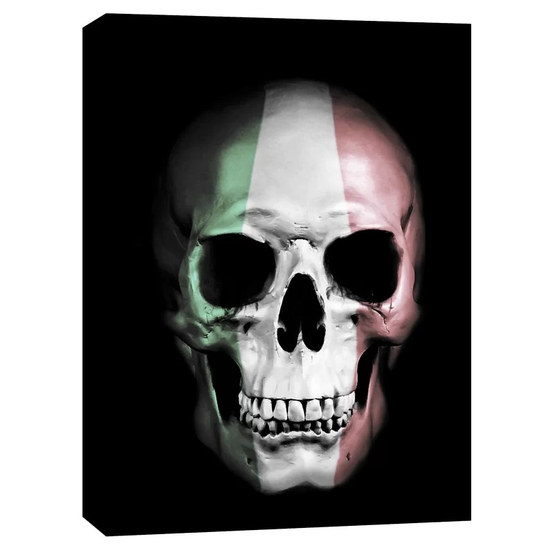 Italian Skull by Nicklas Gustafsson Graphic Art on Canvas Size: 54 H x 40 W