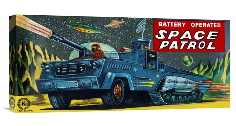 Space Patrol by Retrobot Vintage Advertisement on Wrapped Canvas