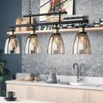Williston Forge Felecia 4 Light Kitchen Island Linear Pendant Reviews Wayfair