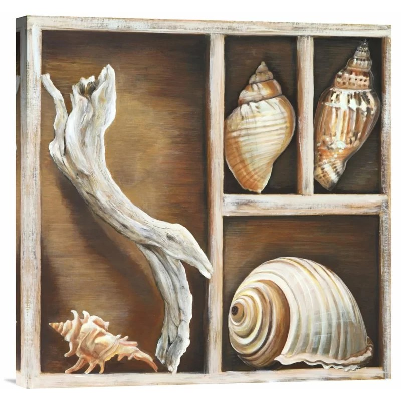 From the Ocean I by Ted Broome Painting Print on Wrapped Canvas