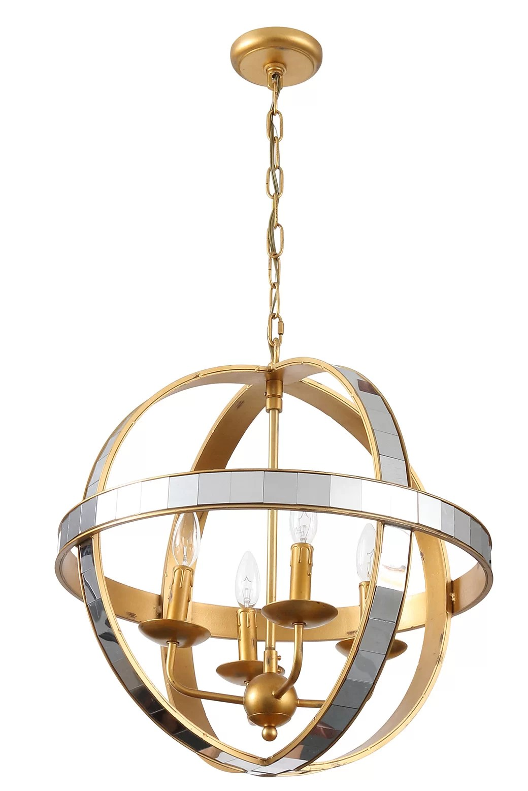 Joseph Allen 4 Light Candle Style Globe Chandelier Wayfair