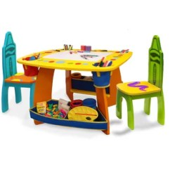 Where To Buy Toddler Table And Chairs Cvs Shower Chair With Bench Kids Metal Wayfair Crayola 3 Piece Arts Crafts Set