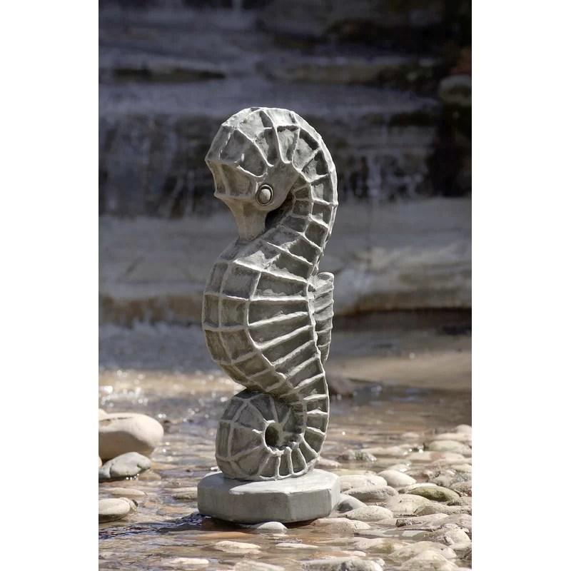 Seahorse Statue Color: Travertine