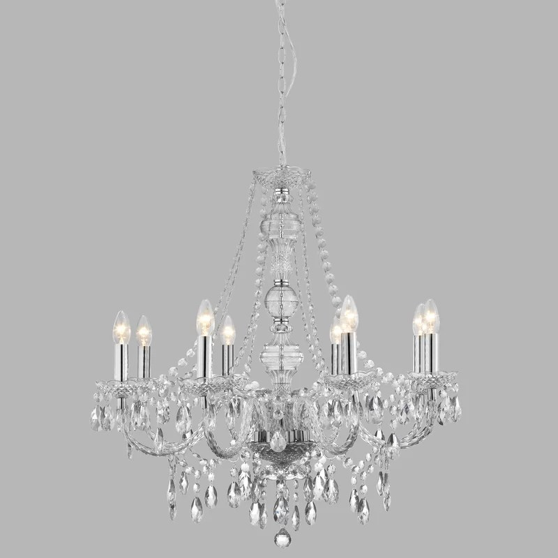 kelly 8 light candle style chandelier