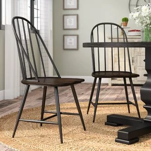 chair design iron patio cushions canada metal kitchen dining chairs you ll love wayfair guerin set of 2