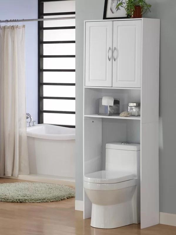 bathroom storage over toilet | wayfair