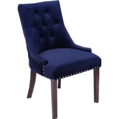 Navy Blue Dining Chairs Set Of 2 Oak Table And Royal Velvet Chair Wayfair Quickview