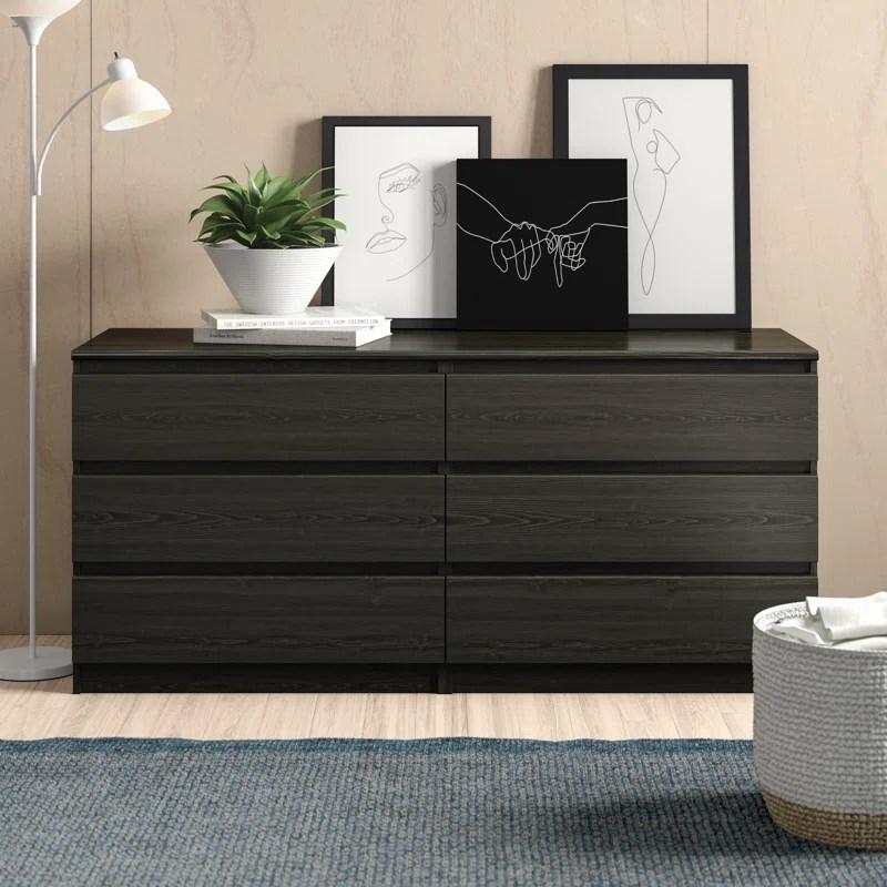kepner 6 drawer double dresser