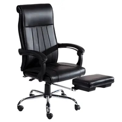 reclining office chair with footrest india kitchen cushions ties target merax executive reviews wayfair lyla high back