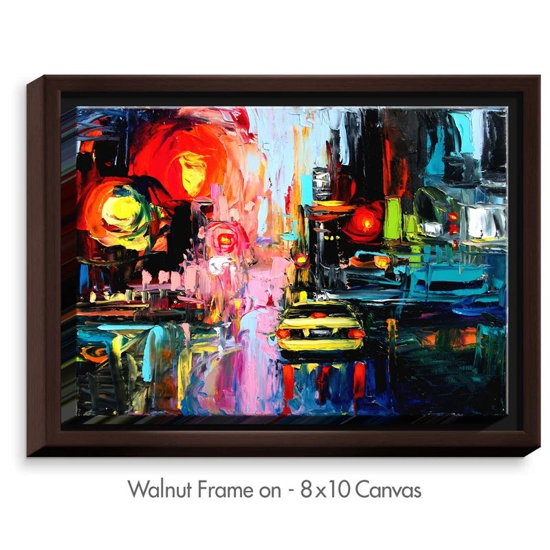Faces of the City cxvi by Aja Ann Painting on Wrapped Framed Canvas Size: 31.75 H x 41.75 W x 1.75 D Frame Color: Walnut
