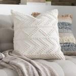 Dakota Fields Statler Textured Cotton Throw Pillow Cover Reviews Wayfair