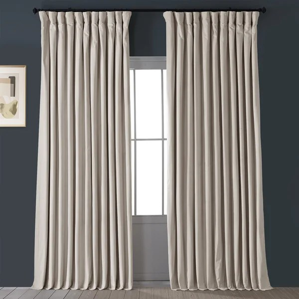 double wide blackout curtains