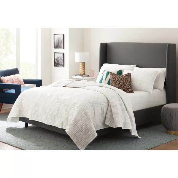 modern contemporary carter upholstered bed
