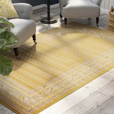 yellow area rug living room for size three posts gillam reviews wayfair