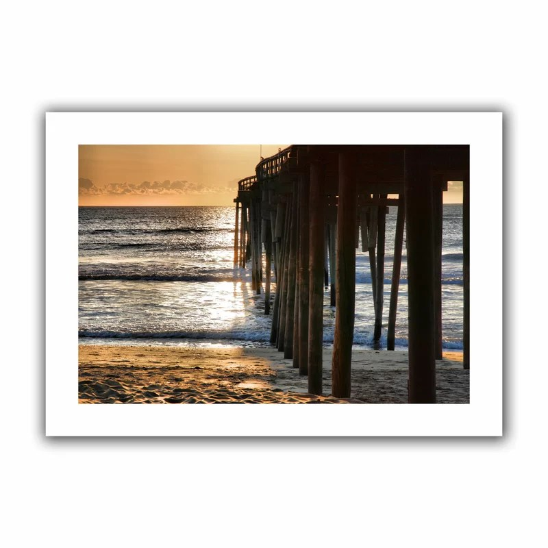 Fishing Pier by Steven Ainsworth Photographic Print on Rolled Canvas Size: 16 H x 22 W