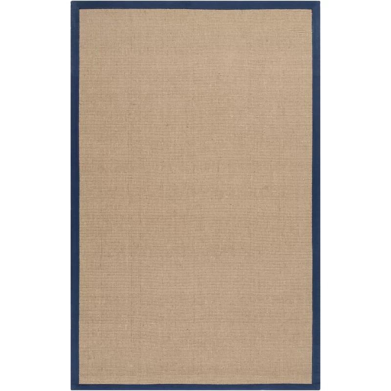 Sasha Handwoven Flatweave Navy/Beige Area Rug Rug Size: Rectangle 5 x 8
