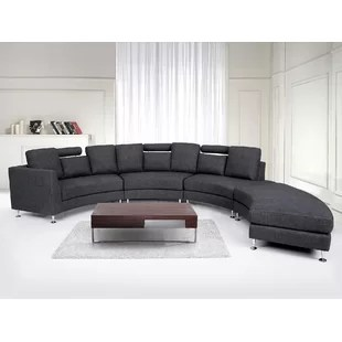 curved sectional sofa leather dash square sofas cover wayfair crivello