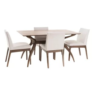 modern tables and chairs french country dining upholstered contemporary room sets allmodern quickview