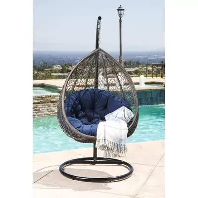 hanging chair lahore lucite folding chairs baner garden swing with stand wayfair ostrowski outdoor wicker