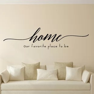 wall stickers living room gray chair for wayfair home our favorite place to be vinyl decal