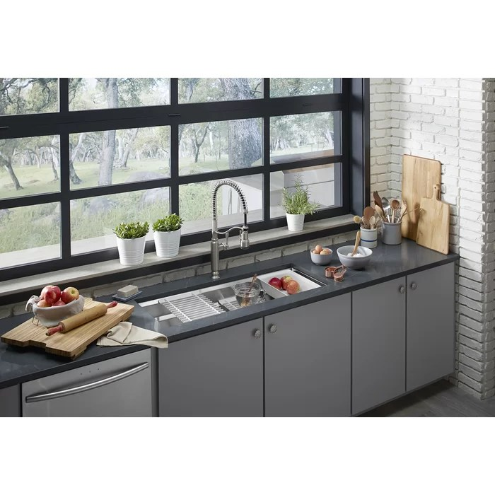 under mount kitchen sink stainless steel sinks 33 x 22 kohler prolific 44 in 18 1 4 10 single bowl